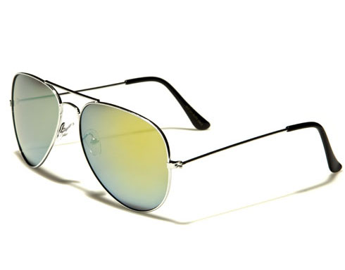 AirForce Pilot - Silver Spegelglas - Solglasögon
