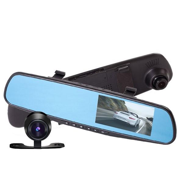 Blackbox DVR smart backspegel med kamera + backkamera