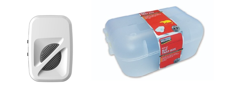 Musskrämma 370 kvm plus råttfälla låda.