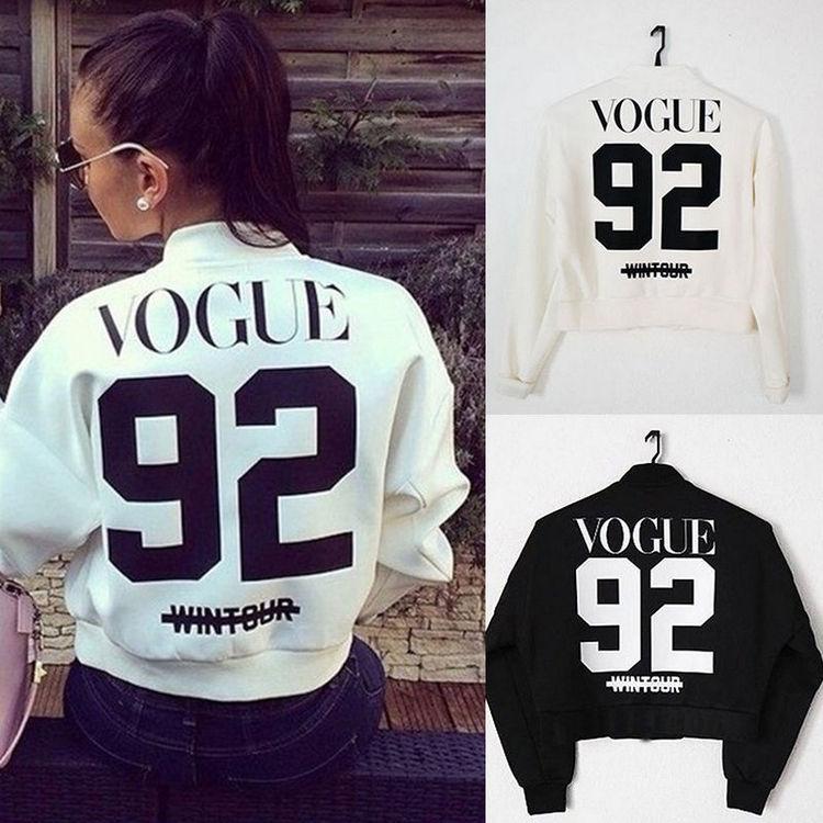 VOGUE Sweatshirt Zipper