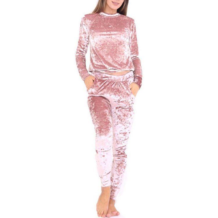 Velvet tracksuit pink