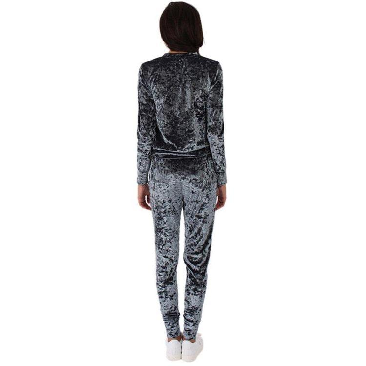 Velvet tracksuit grey