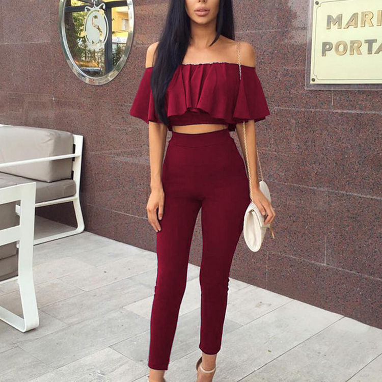 Sleeveless Tracksuit Wine Red