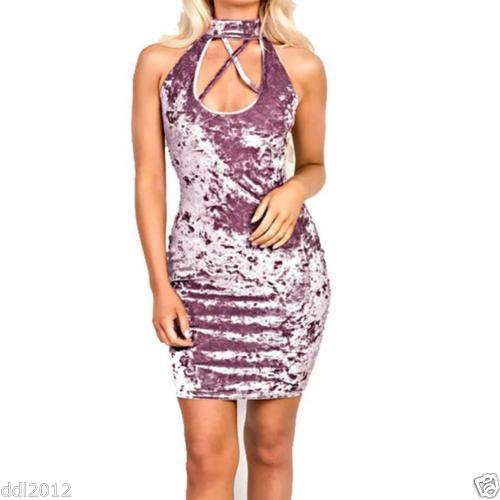 Sexy Velvet Dress Pink