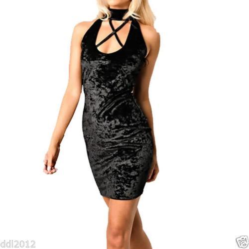 Sexy Velvet Dress Black