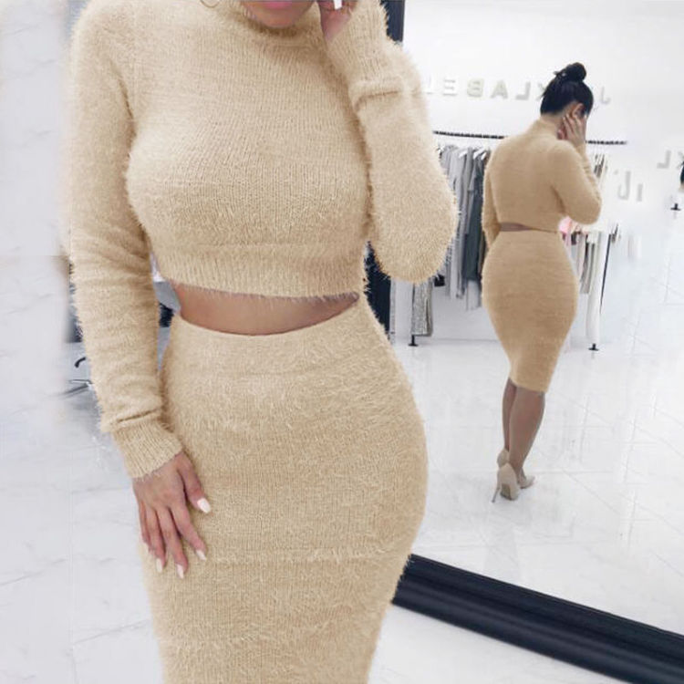 2 delad klänning Beige