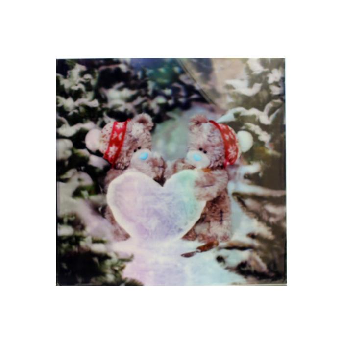 Me To You, Julkort – 3D Tomtenallar med snöhjärta
