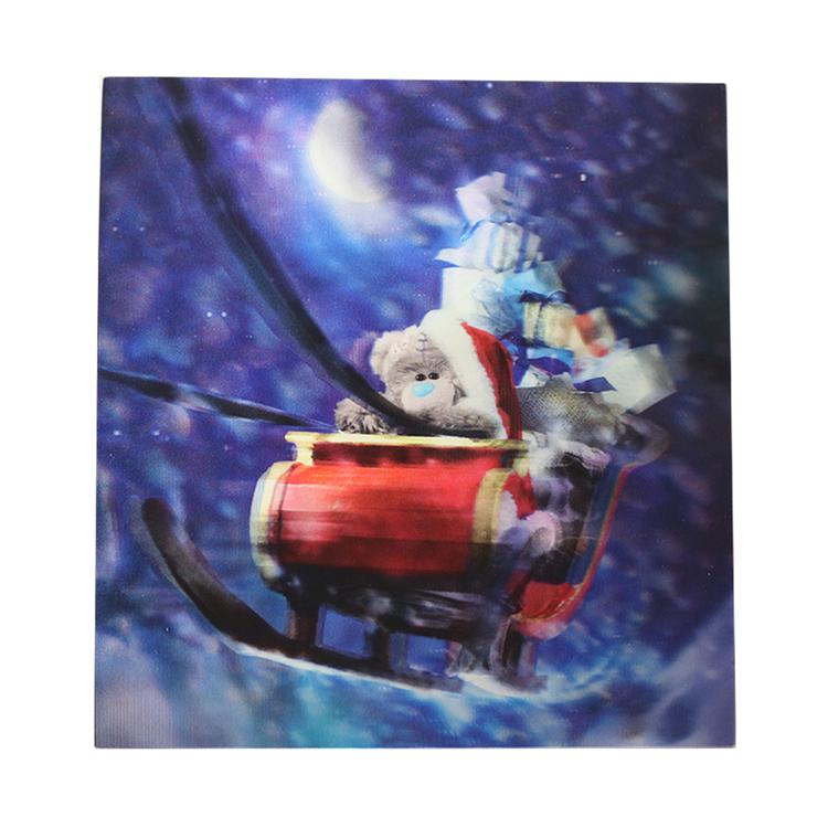 Me To You, Julkort – 3D vykort nalle på släde