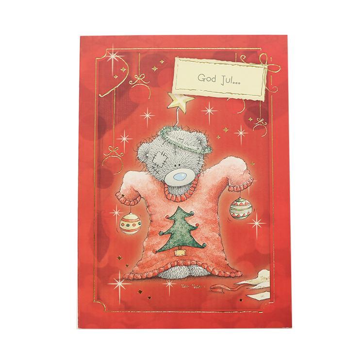 Me to you – Julkort, utklädd nalle