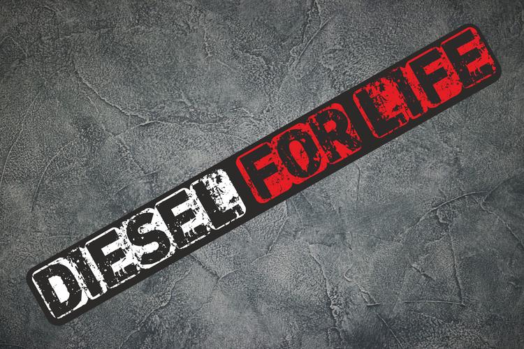 Printad Dekal Diesel For life