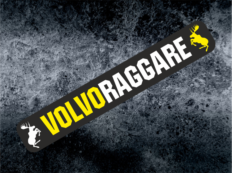 Printad dekal Volvoraggare Gul