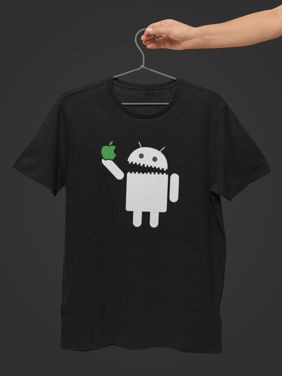Android Eats apple T-shirts