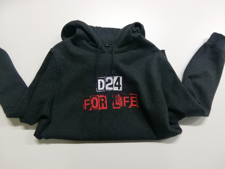 D24 for life hoodie XXL