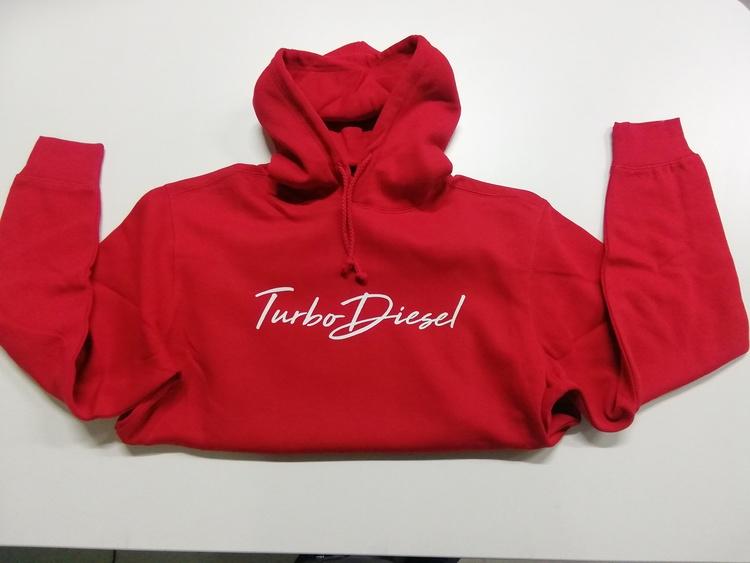 Turbo diesel Röd hoodie L