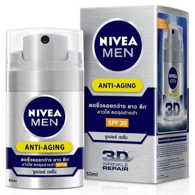 Nivea Men Anti-Aging Q10 Face Serum UV 3D Anti Wrinkle Effect Healthy Skin 50ml