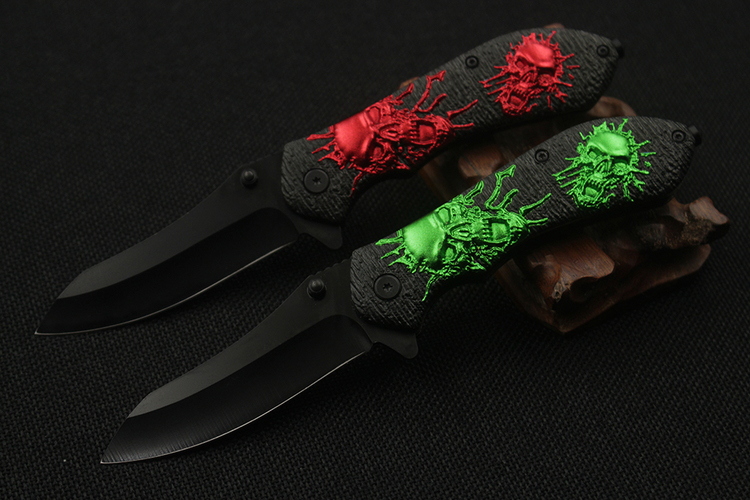 Skull Tactical Folding Knife