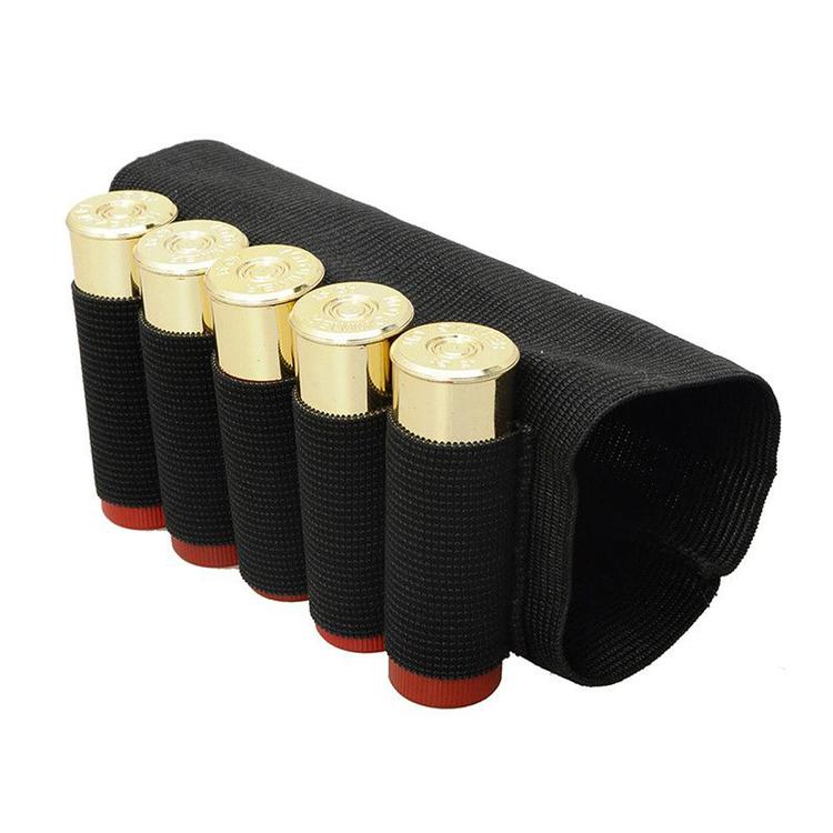 Black Nylon Shotgun Rifle 5 Shells Butt Stock