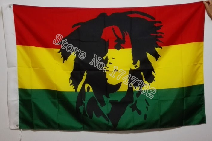 Bob Marley Jamaica Rasta Flag 150 x 90 cm