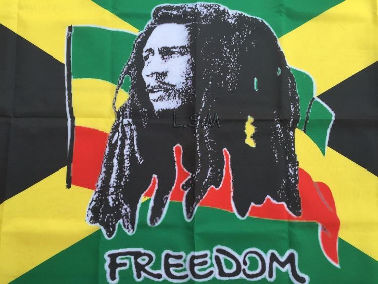 Jamaica Bob Marley Freedom Flag. 150X90CM