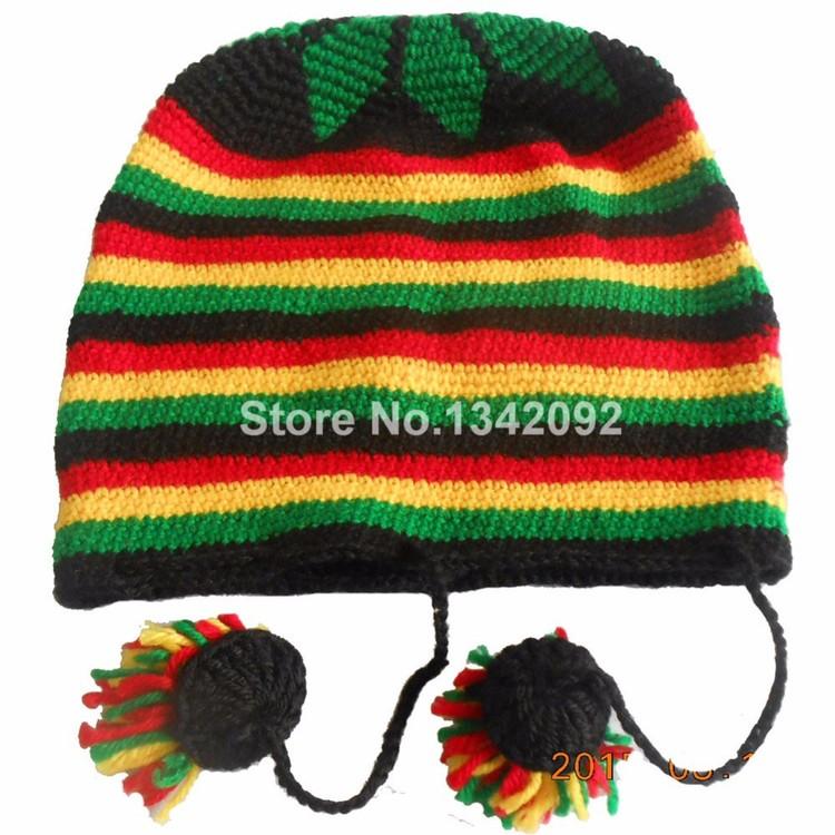 Jamaica Reggae Handmade Knitted Winter Warm Beanie Hat
