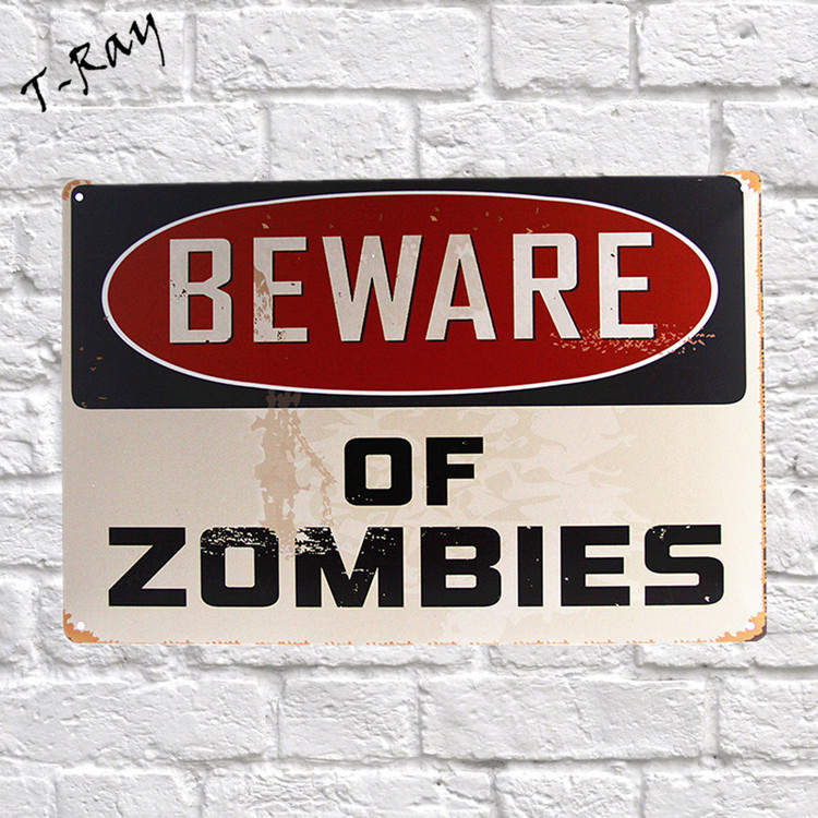 "Home decor "" Beware Of Zombies"""