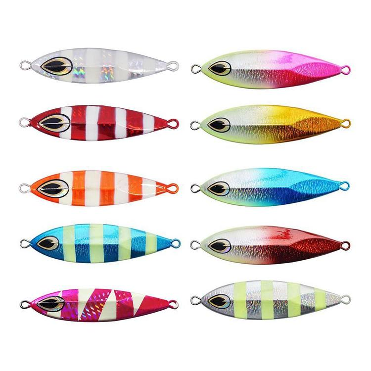 Mixed 10 Colors Metal Slow Jigging Lures