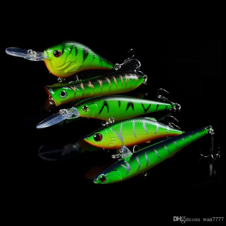 Hard Plastic Lures Fishing Hooks 3D