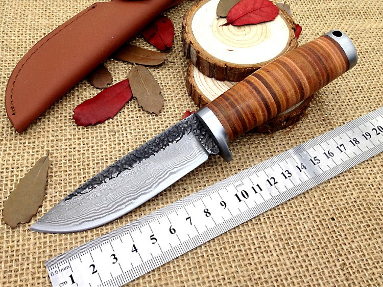 Jungle hunting knife Damascus