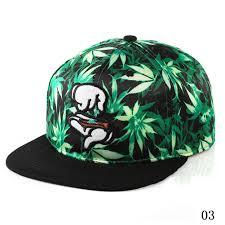 Finger Marijuana leaf Baseball Cap
