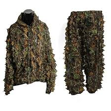 3D Leaf Adults Ghillie Suit Woodland Camo/Camouflage