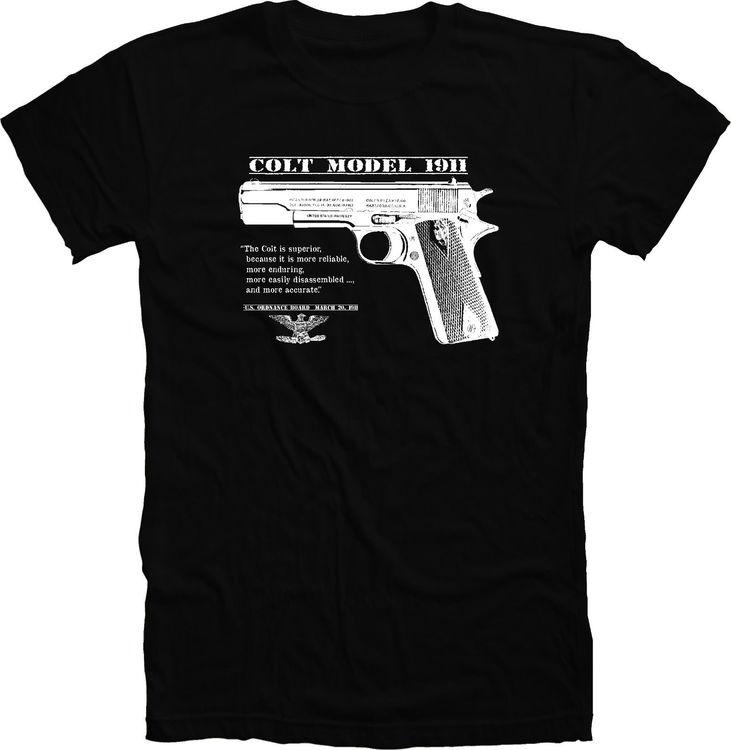 T-Shirt  Colt 45 1911 Pistol