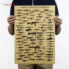 AK47 Weapons, Military Fans Retro Poster
