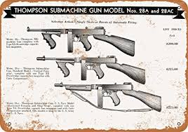 1944 Thompson Submachine Guns