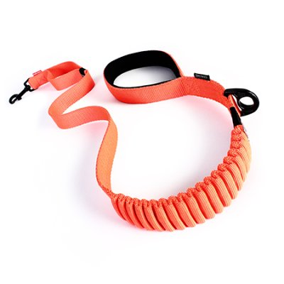 EZYDOG koppel zero shock orange 120CM traffic control