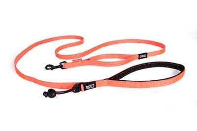 EZYDOG koppel soft trainer orange Lite 12 mm X 181 cm