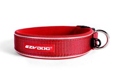 EZYDOG Halsband neopren reflex Röd