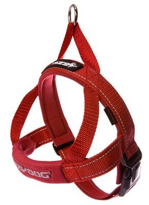 EZYDOG Sele Quickfit neopren röd  (justerbar)