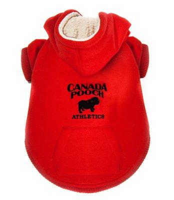 Canada Pooch Cozy Caribon Röd Hoodie