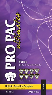 PRO PAC PUPPY CHICKEN & BROWN RICE WHOLEGRAIN