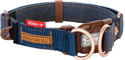 Ezydog Halsband Dubbel Up Denim