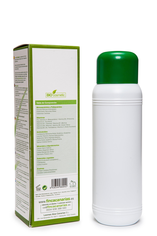 Färsk kallpressad Aloe Vera Gel 500ml - 99,7 % Aloe Barbadensis Miller