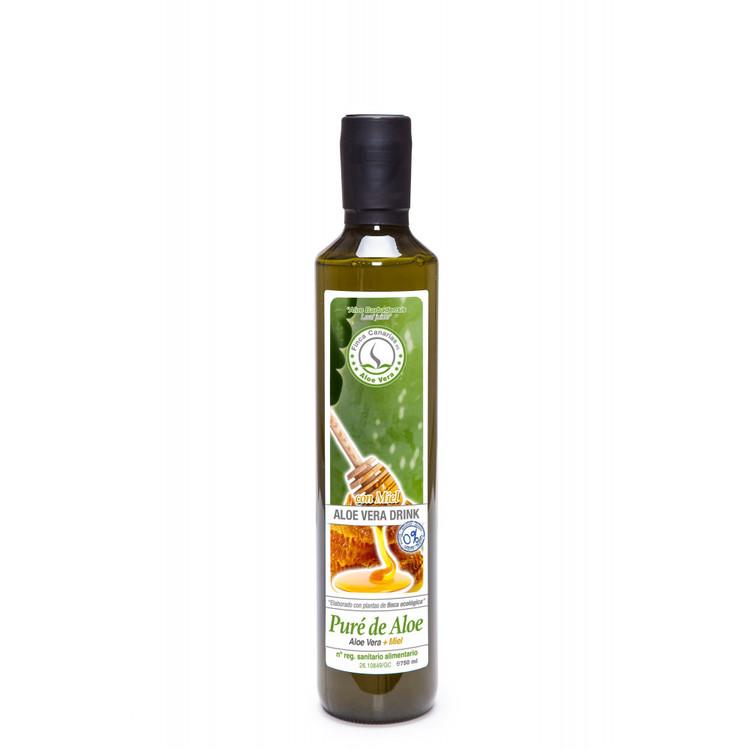 Färsk Aloe Vera Juice med fruktkött och Honung  -  750ml