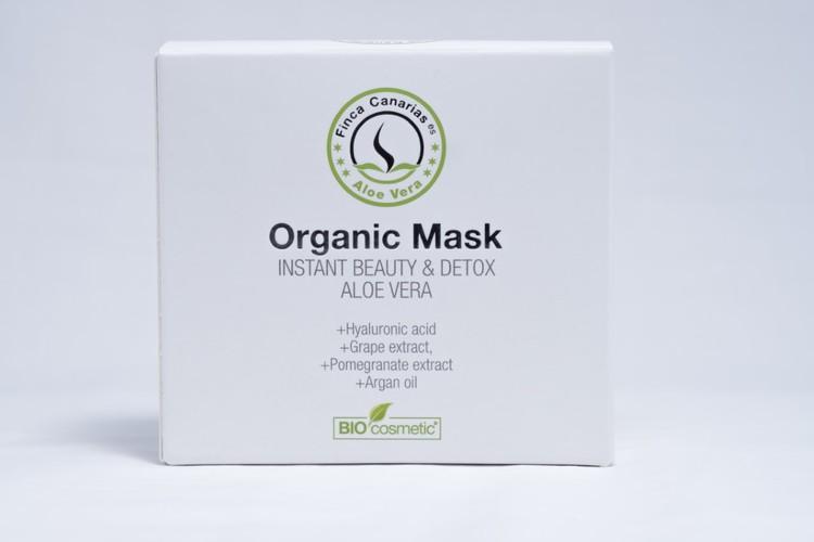 ALOE VERA Ansiktsmask - Instant Beauty & Detox Organic Mask