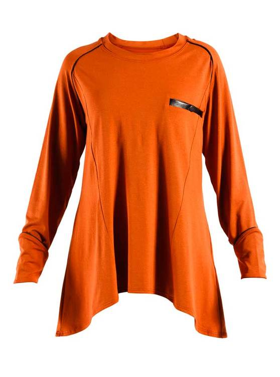 FLAIR JERSEY TOP ORANGE RÖD