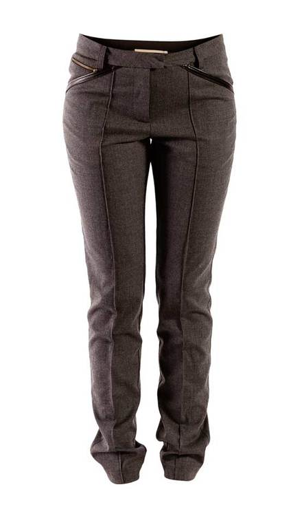 Selma Gray Wool Stretch trousers