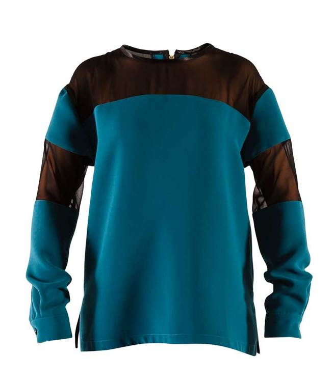 Manuella loose blouse Turquoise green
