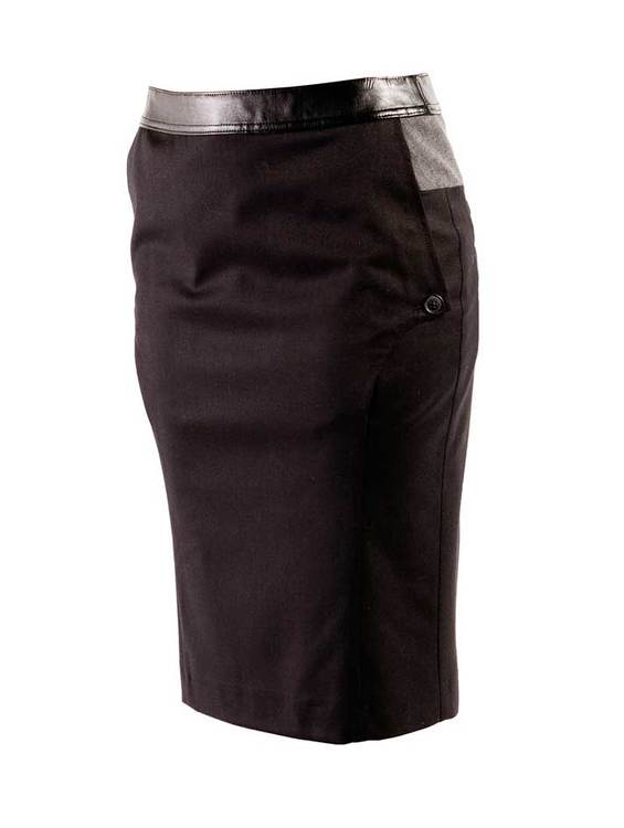 LINDA exclusive skirt in wool stretch.