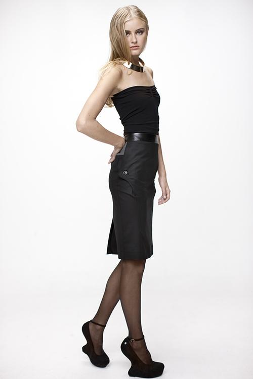LINDA exklusiv kjol i ull stretch