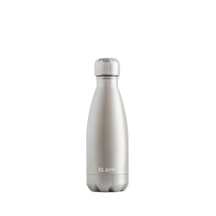 Vattenflaska i rostfritt stål och termos i ett - Blank 350 ml