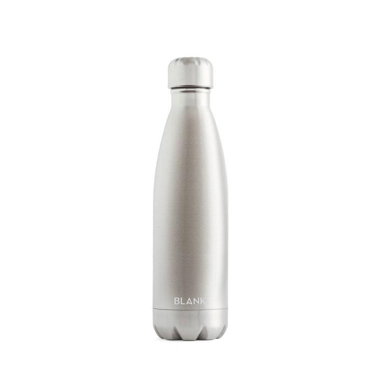 Vattenflaska i rostfritt stål och termos i ett - Blank 500 ml